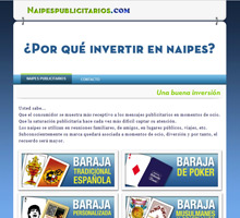 Miniatura Naipes Publicitarios